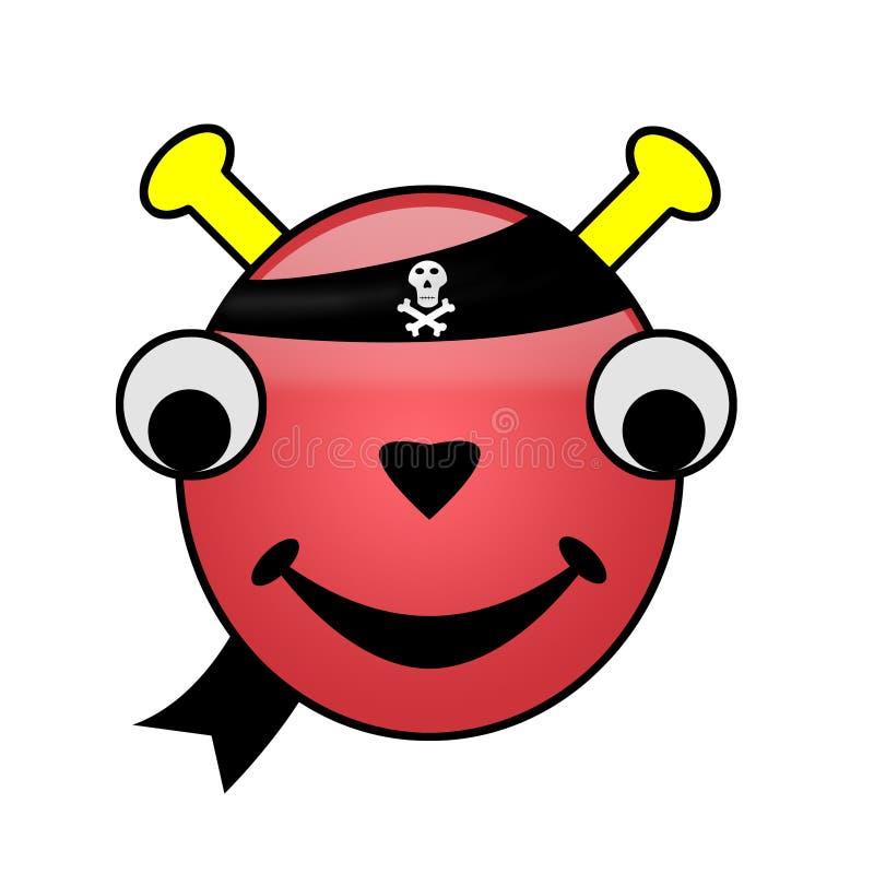 Pirate Alien Smiley stock image