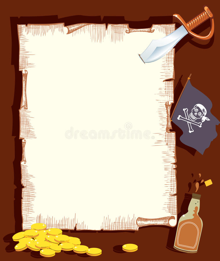 Pirate background for text.Vector stock image
