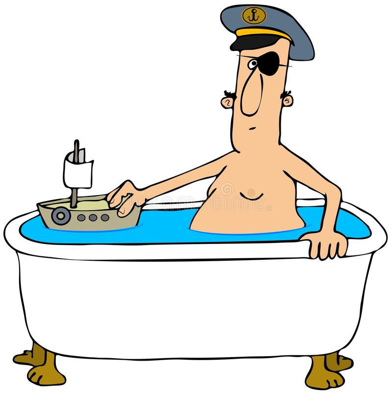 Download Pirate in a bathtub stock illustration. Image of boat - 30633580