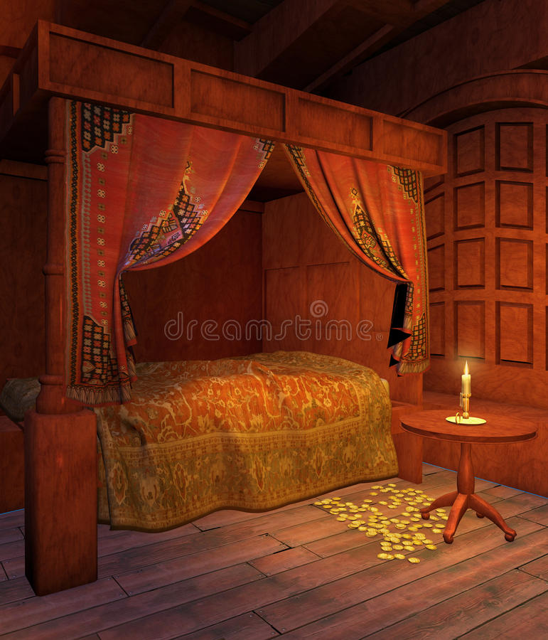 Download Pirate Bedroom Royalty Free Stock Image - Image: 12896366