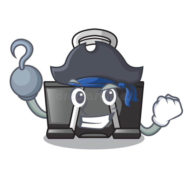 Pirate binder clip in the character shape. Vector illustration royalty free illustration