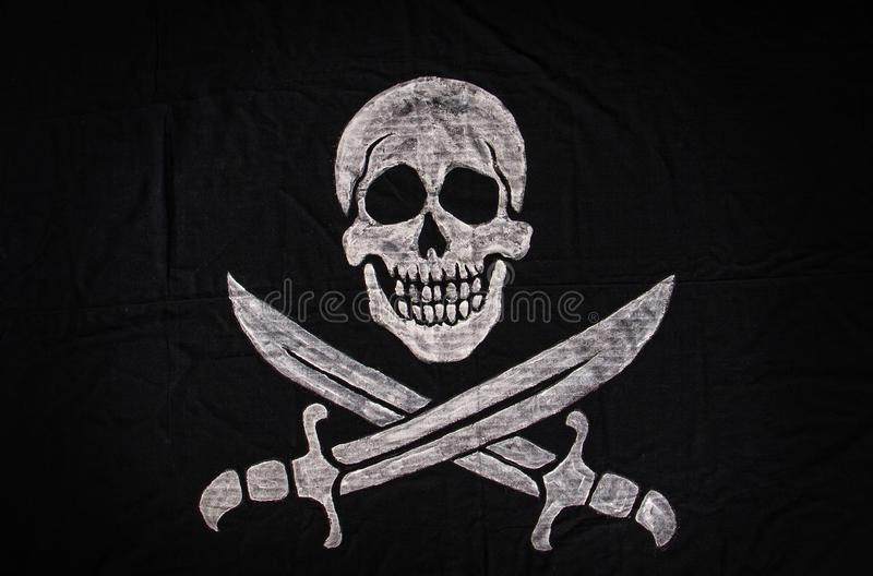Jolly Roger Flag royalty free stock image