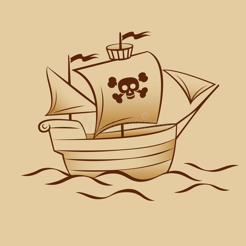 Pirate Boat illustrazione di stock