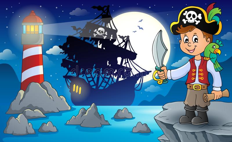 Pirate boy topic image 3. Eps10 vector illustration vector illustration