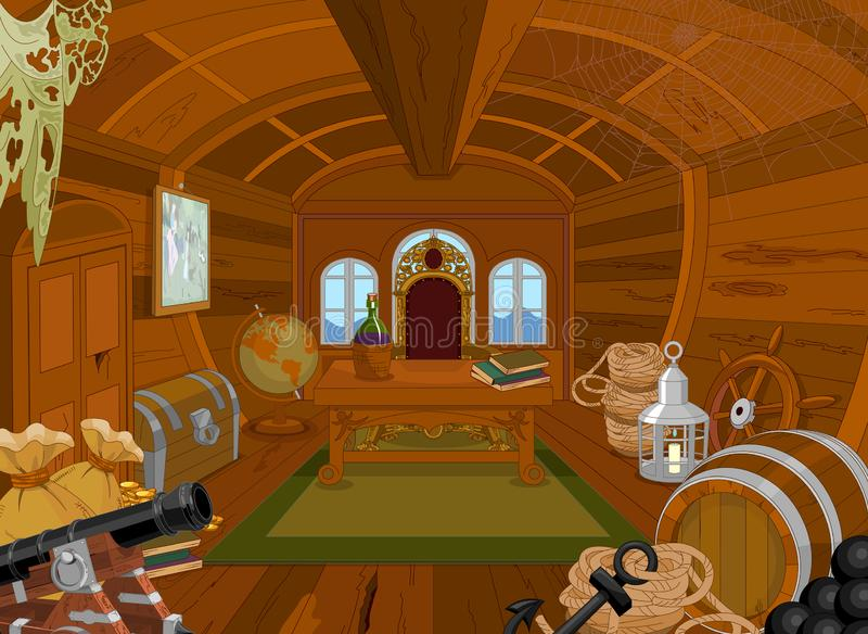 Pirate Cabin. Illustration of a Pirate Cabin royalty free illustration