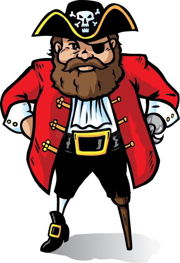 Download Pirate Captain stock vector. Image of looking, pegleg - 12887325