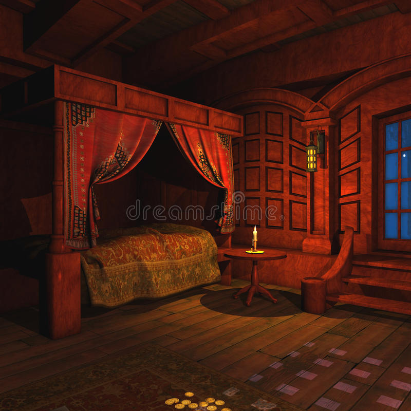 Pirate Captains Cabin royalty free illustration