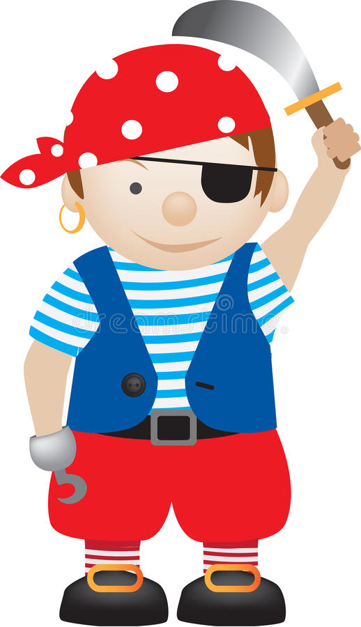 Download Pirate cartoon stock vector. Image of dressing, pretend - 20029133