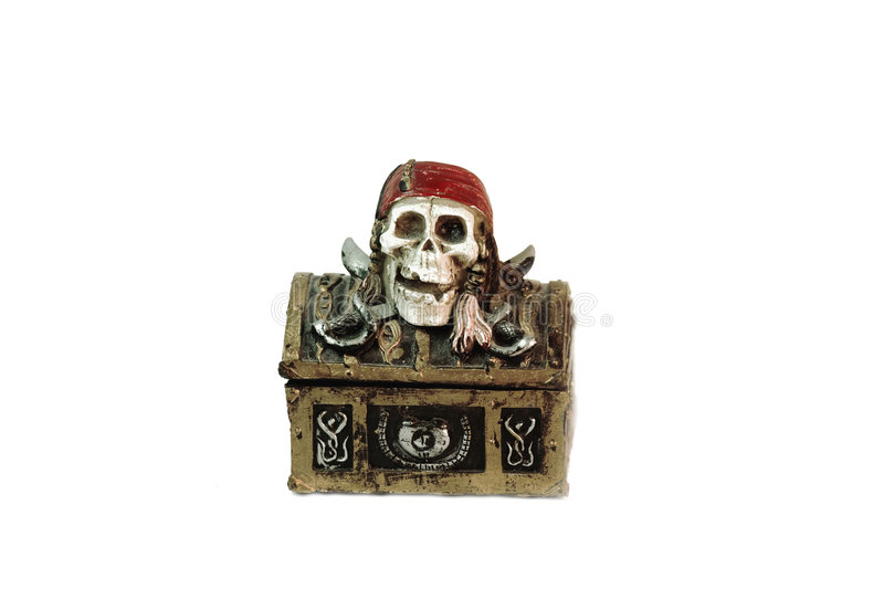 Pirate chest royalty free stock photo