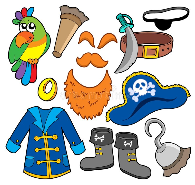 Pirate Clothes Collection Stock Photo