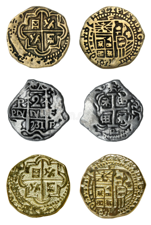 Pirate Coins royalty free stock photos