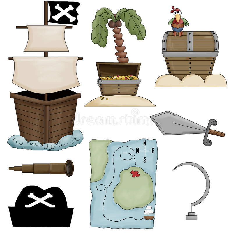 Download Pirate Collection stock illustration. Illustration of card - 8041331