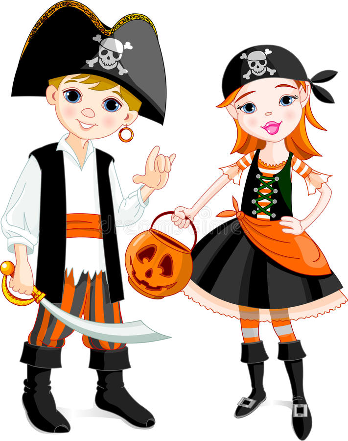 Download Pirate couple stock vector. Image of girls, cheerful - 10911253