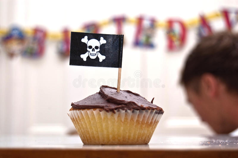 Pirate Cupcake royalty free stock photography