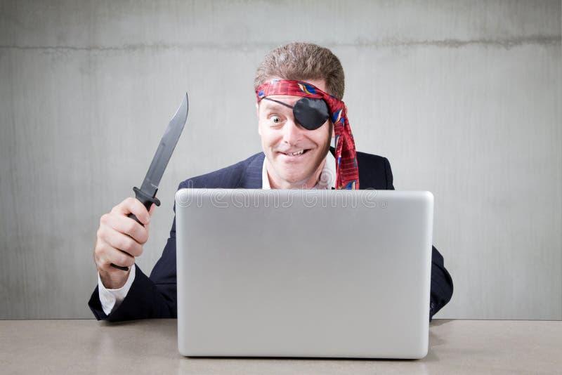 Pirate d'Internet image libre de droits