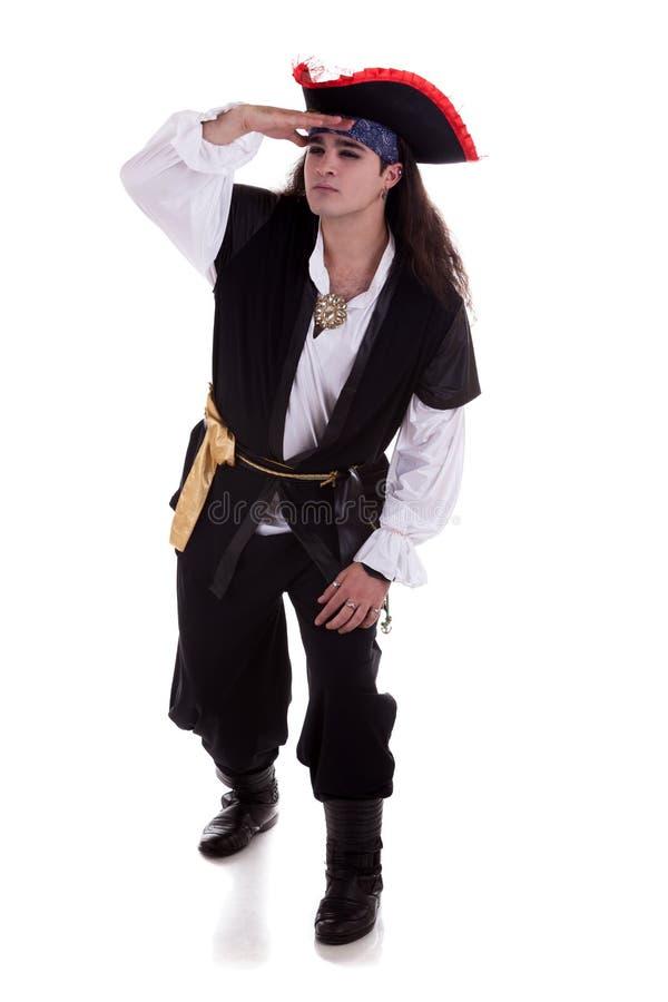 Pirate d'isolement sur le fond blanc photos libres de droits