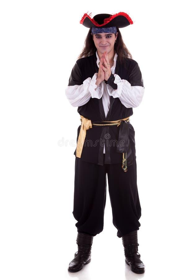 Pirate d'isolement sur le fond blanc photo libre de droits