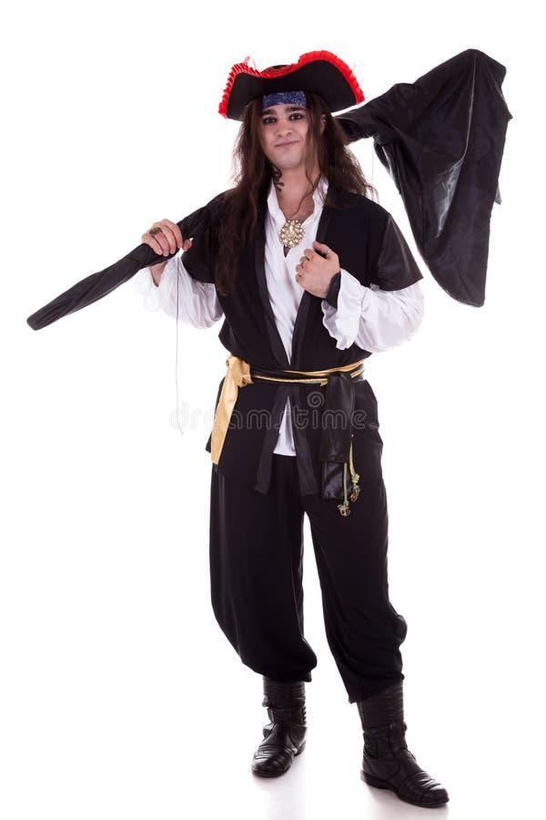 Pirate d'isolement sur le fond blanc images libres de droits