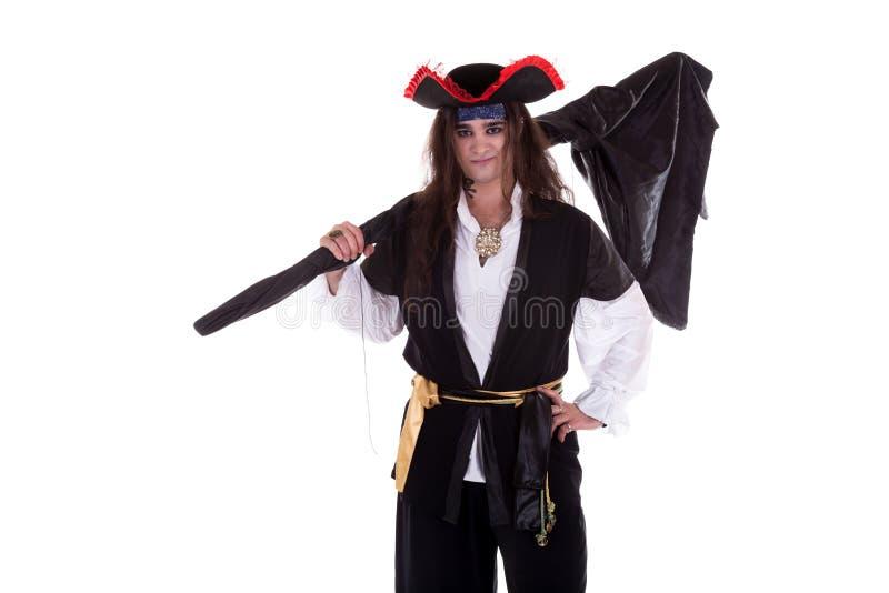Pirate d'isolement sur le fond blanc image stock
