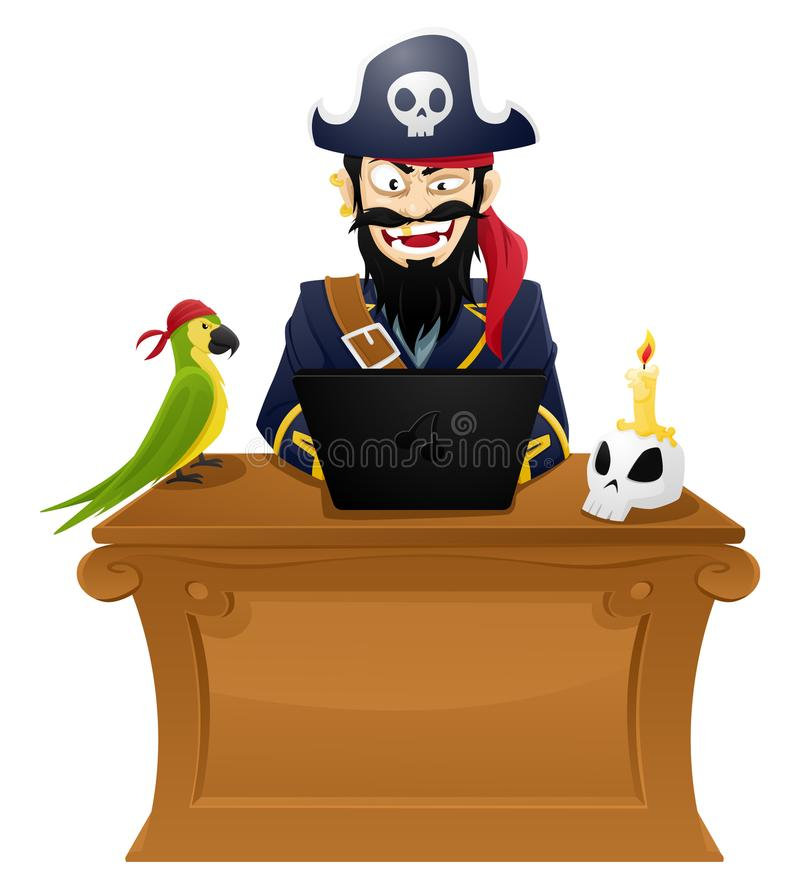 Pirate d'ordinateur - illustration illustration libre de droits