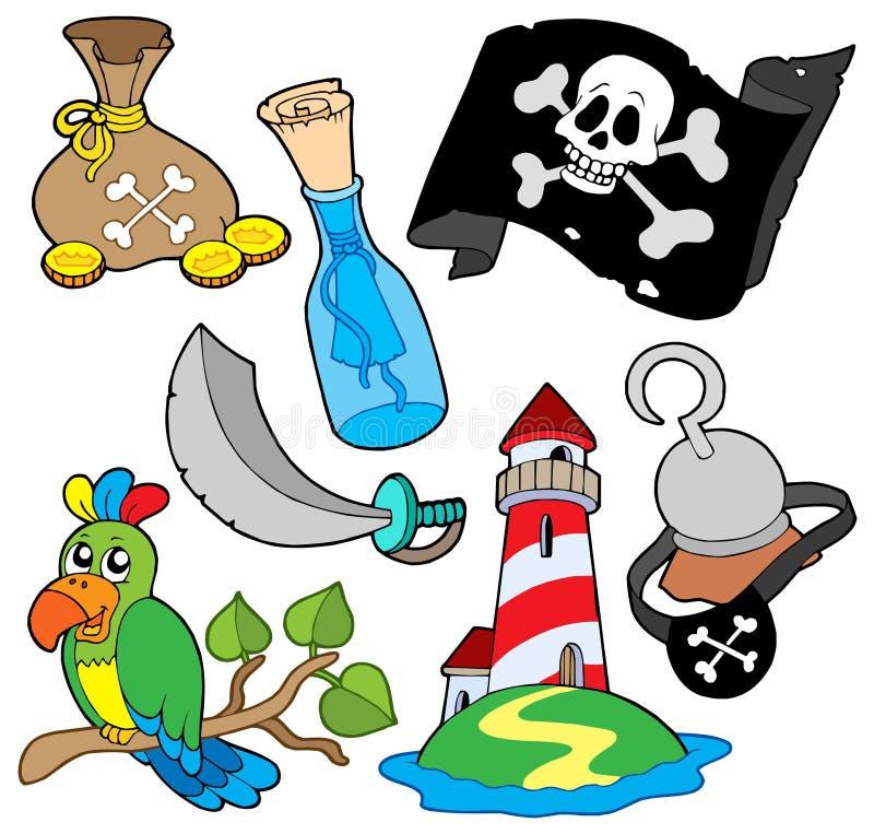 pirate de 6 ramassages illustration stock