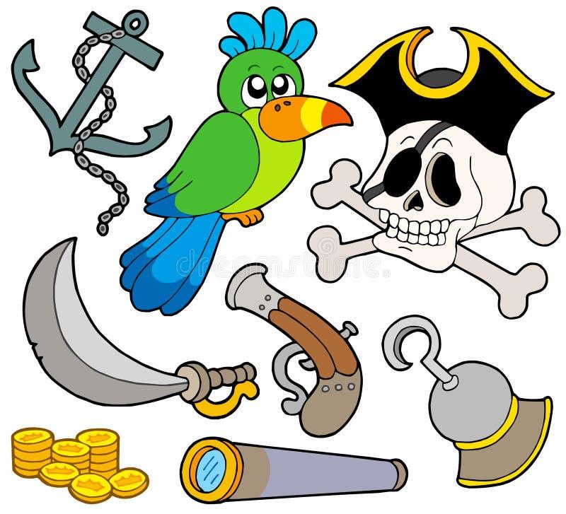 pirate de 9 ramassages illustration de vecteur
