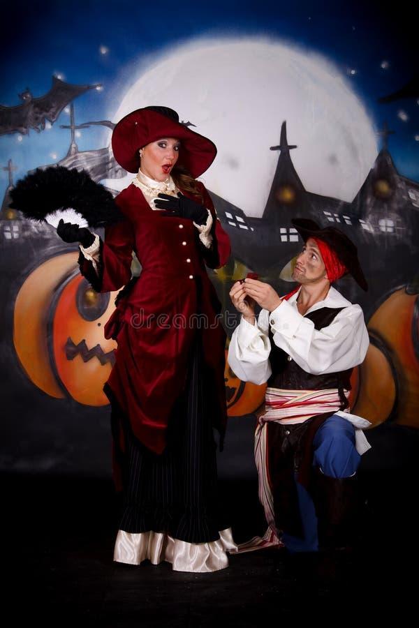 Pirate de dame de Veille de la toussaint image libre de droits