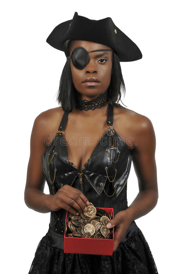 Pirate de femme de couleur photos stock