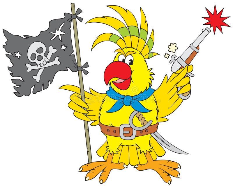 pirate de perroquet illustration libre de droits