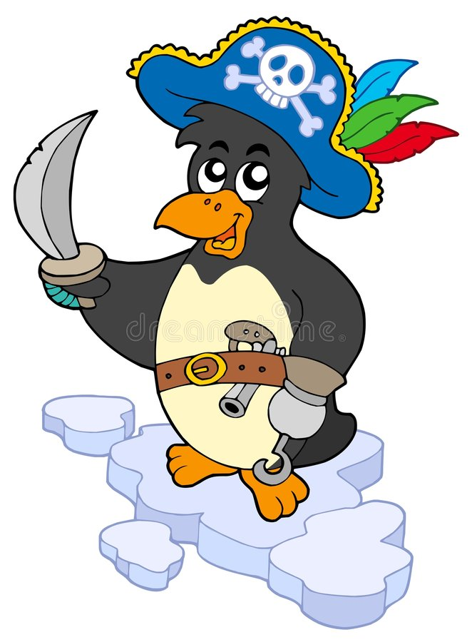 pirate de pingouin illustration libre de droits