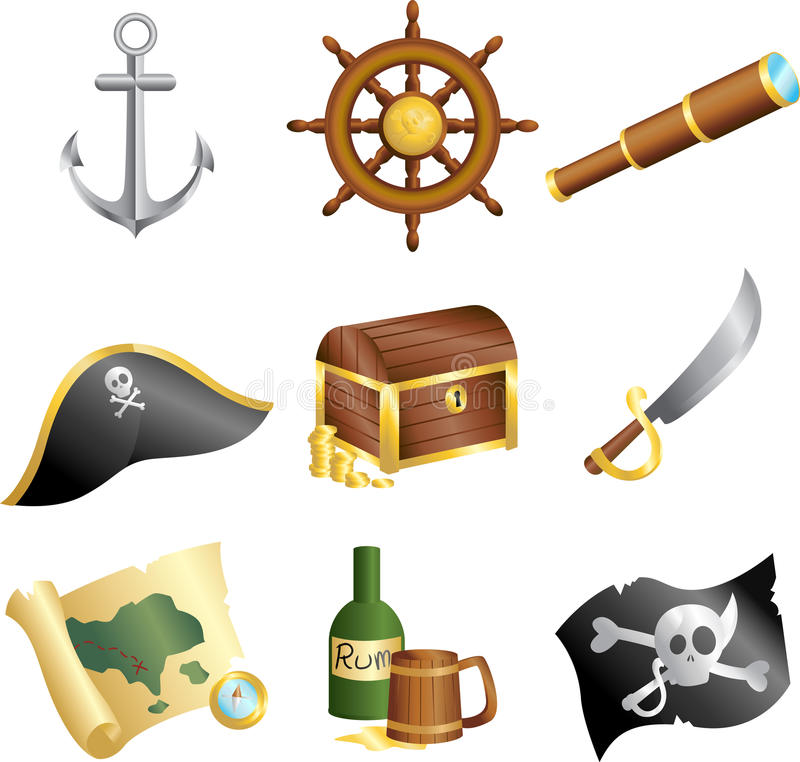 Pirate des graphismes illustration libre de droits