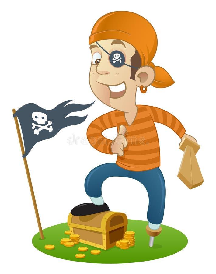 Pirate drôle illustration libre de droits