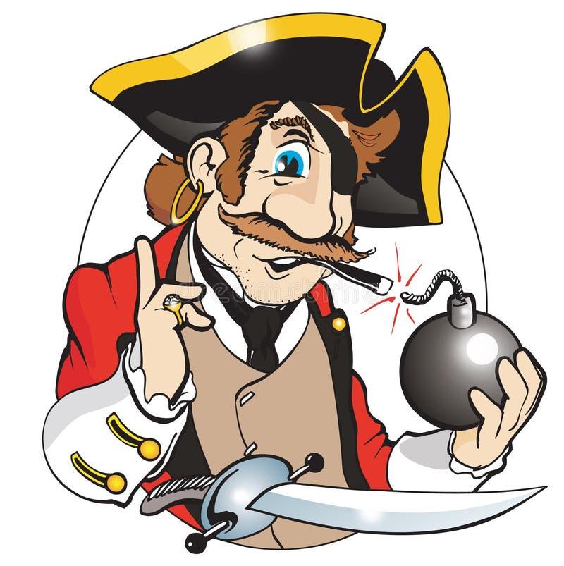 Pirate drôle illustration de vecteur
