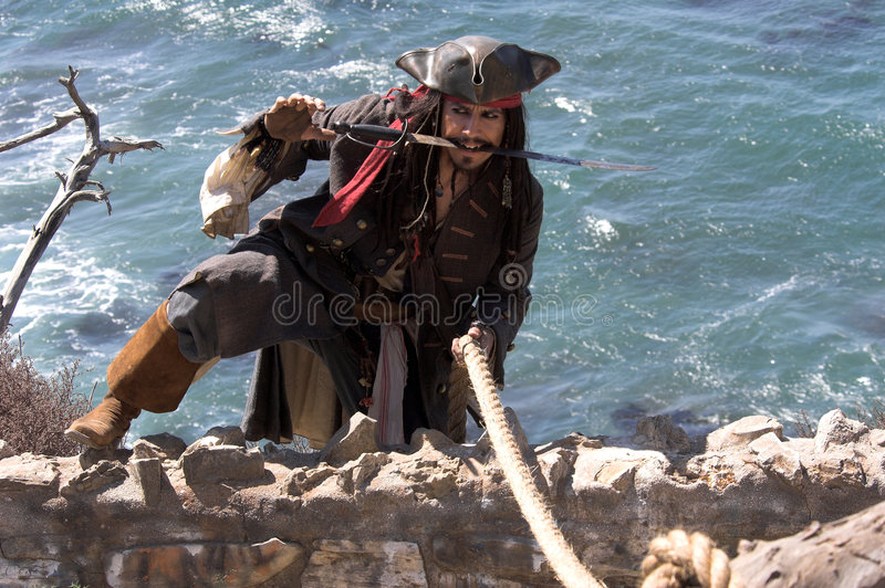 Pirate Escape royalty free stock photography