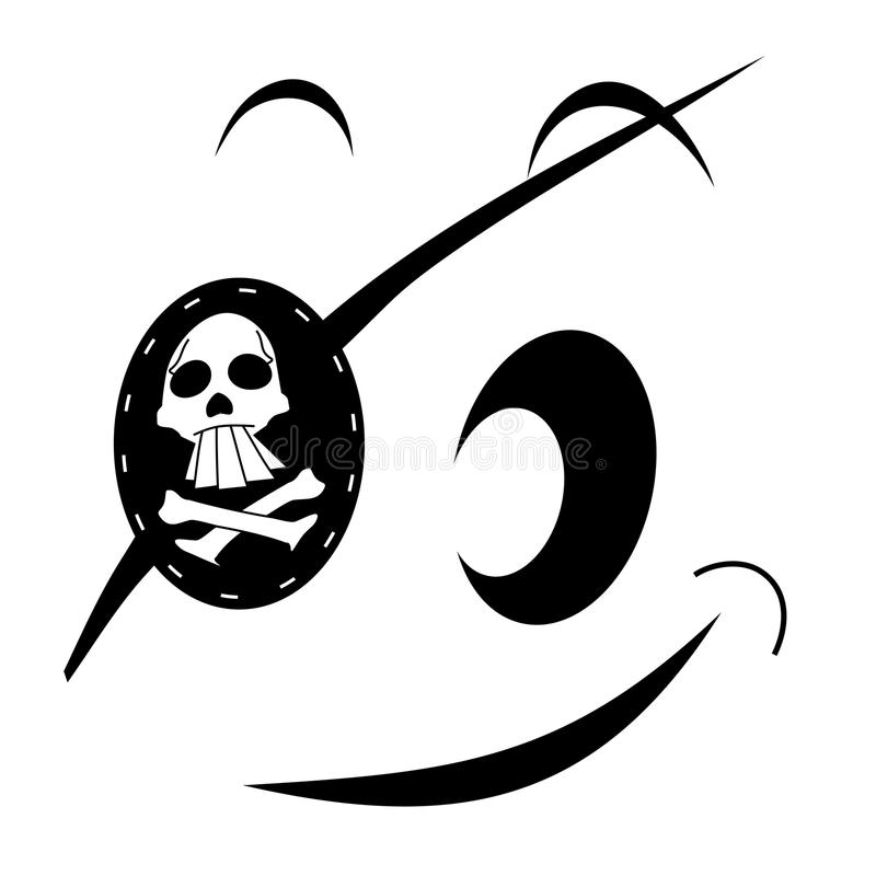 Pirate face stock illustration