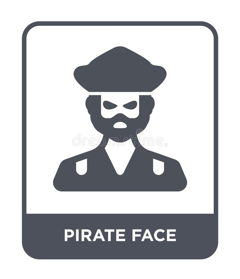 pirate face icon in trendy design style. pirate face icon isolated on white background. pirate face vector icon simple and modern stock illustration