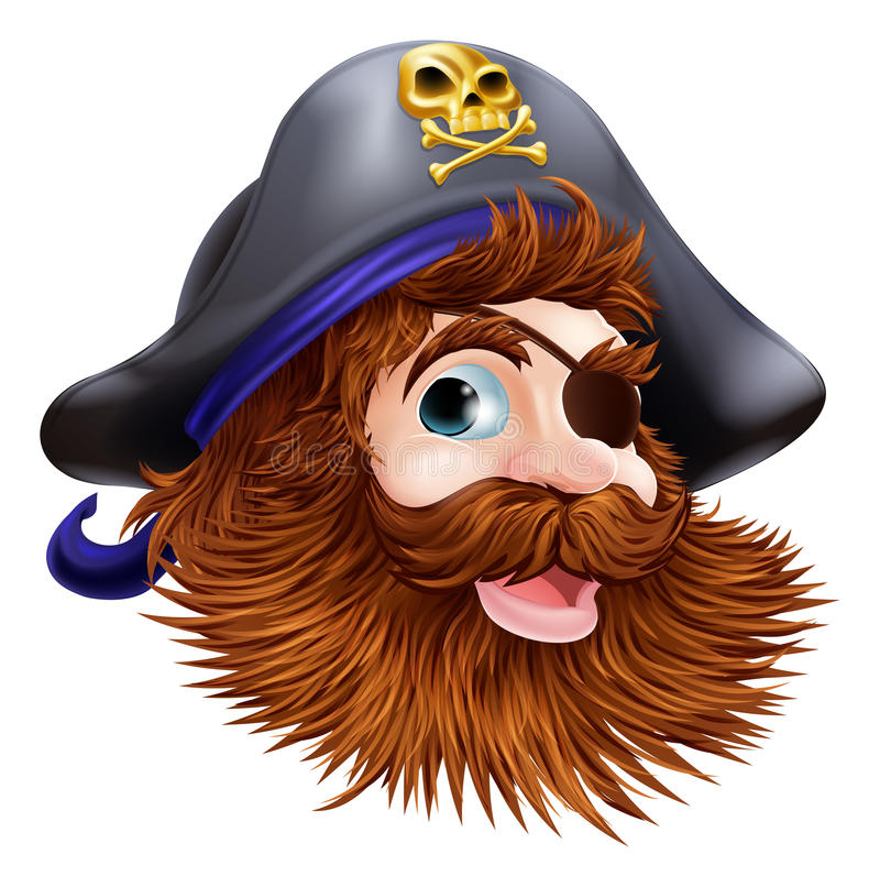 Download Pirate face illustration stock vector. Image of buccaneer - 26489695