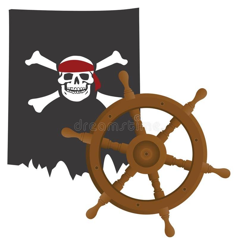 Download Pirate flag stock vector. Image of nautical, pilot, design - 27822467
