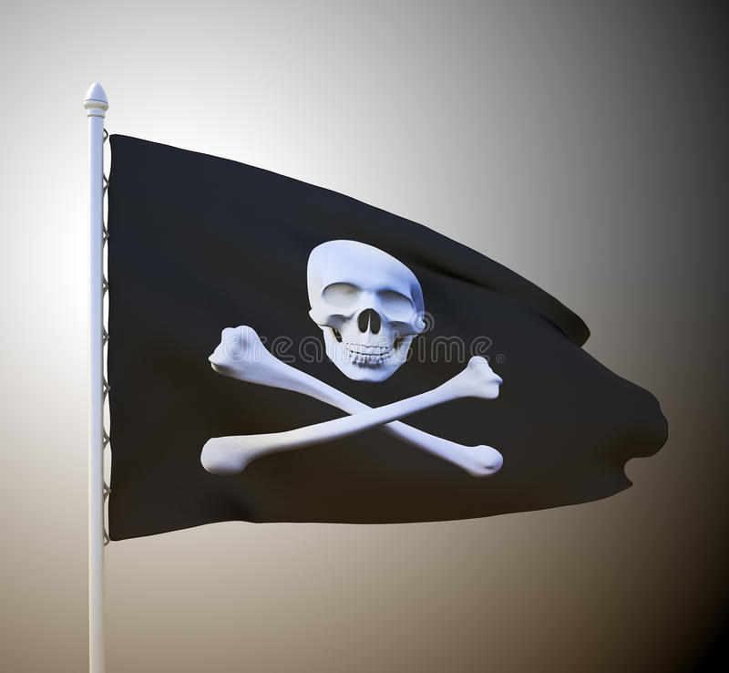 Pirate Flag Royalty Free Stock Photography
