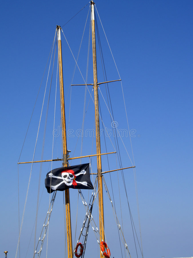 Download Pirate flag stock photo. Image of vessel, great, port - 3035992