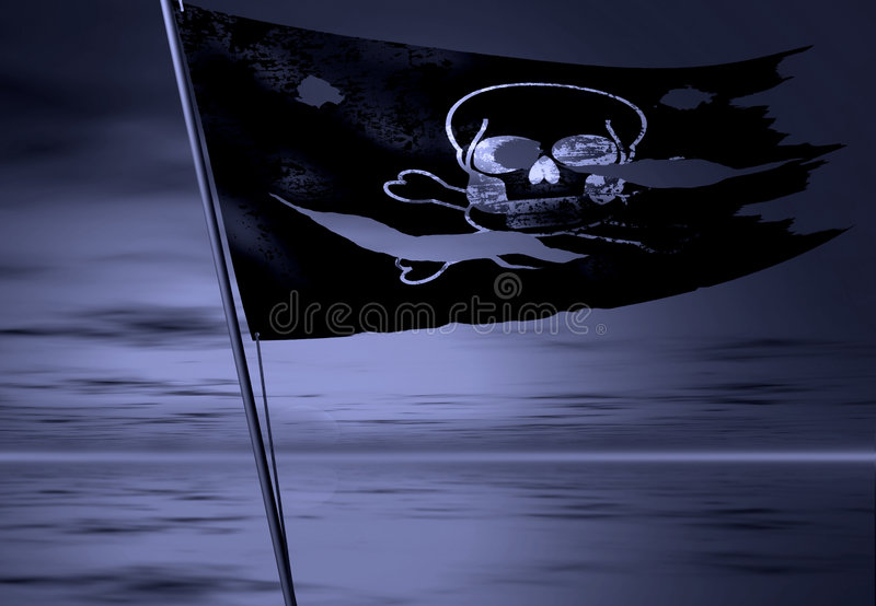 Pirate flag stock illustration