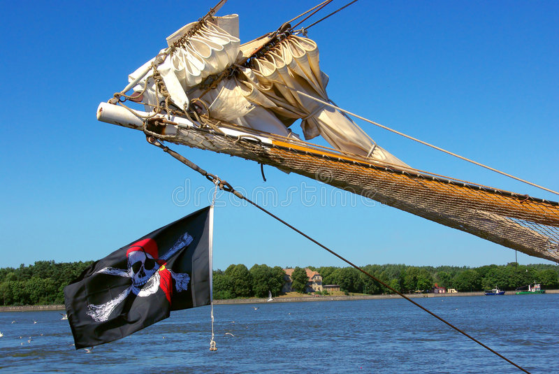 Download Pirate flag. stock image. Image of nautical, buccaneer - 6000107