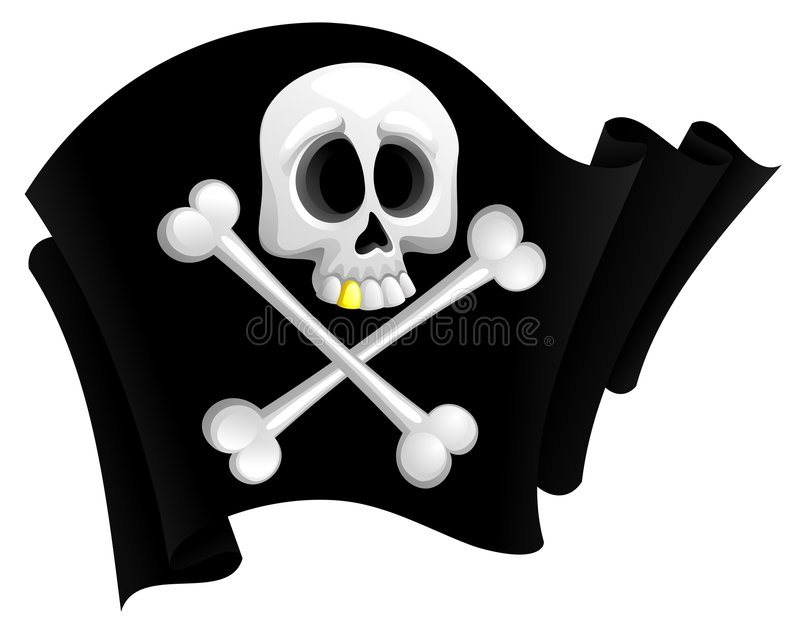Pirate flag. Illustration of pirate flag with skull