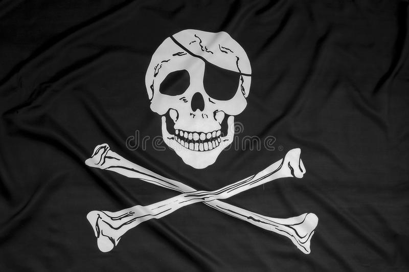 Pirate flag background stock image