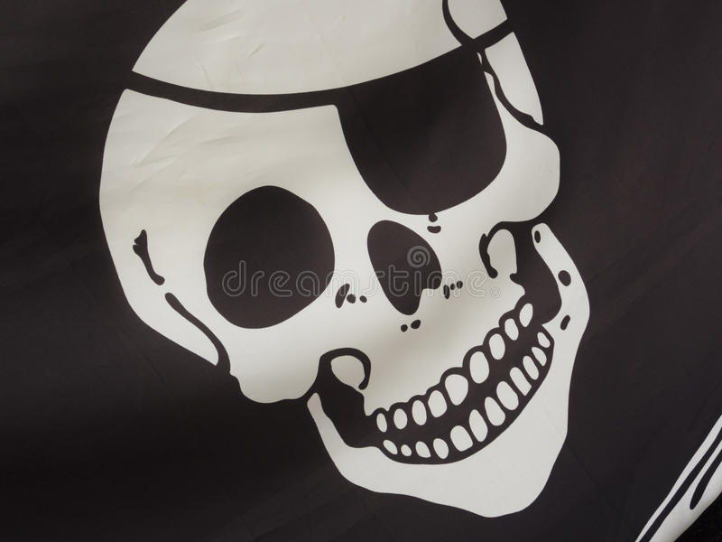Download Pirate flag detail stock photo. Image of flag, pirate - 33483012