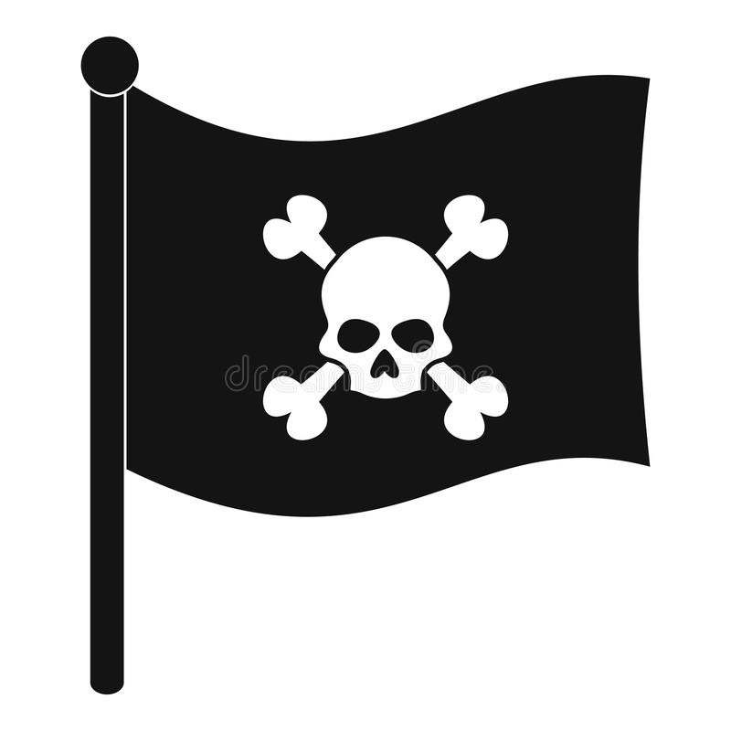 Pirate Flag Icon Simple Style Stock Vector Illustration Of Death Head 88288697