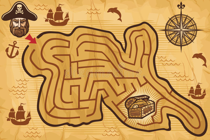 Pirate game royalty free illustration