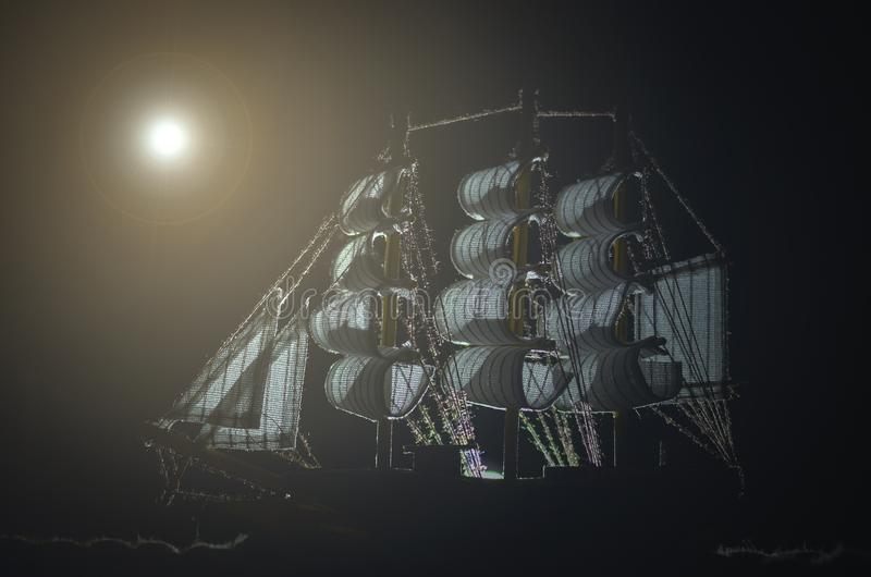 Pirate ghost ship. royalty free stock photography