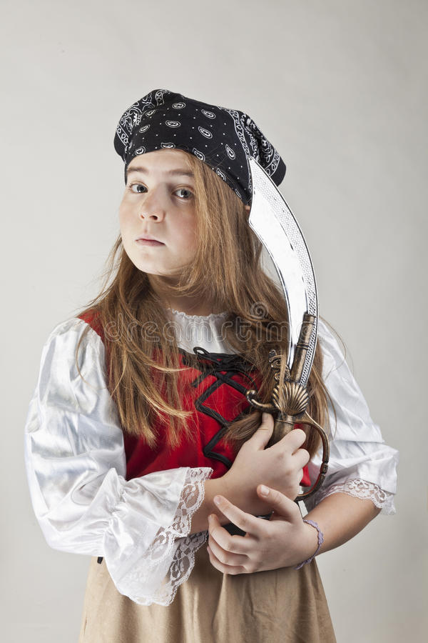 Pirate girl stock photography