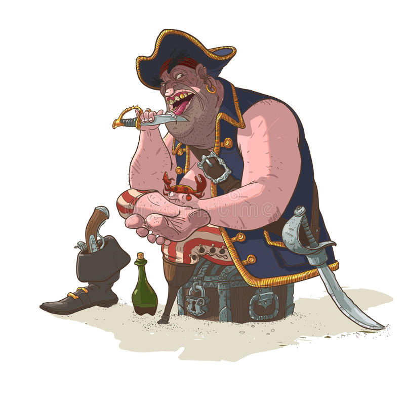 Pirate on a halt royalty free stock image